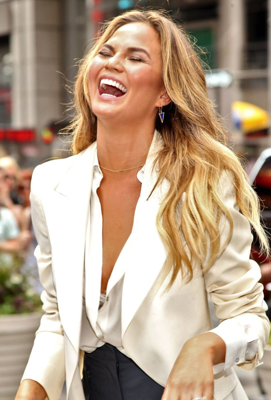 Chrissy Teigen - Viacom And Spike TV Ring NASDAQ Opening