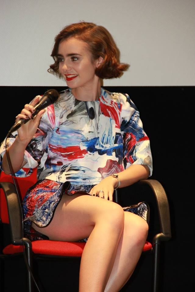 """Lily Collins - """"Love Rosie"""" Press Conference in Rome"""