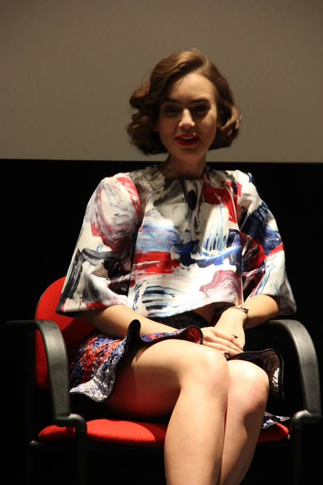 "Lily Collins - ""Love Rosie"" Press Conference in Rome"