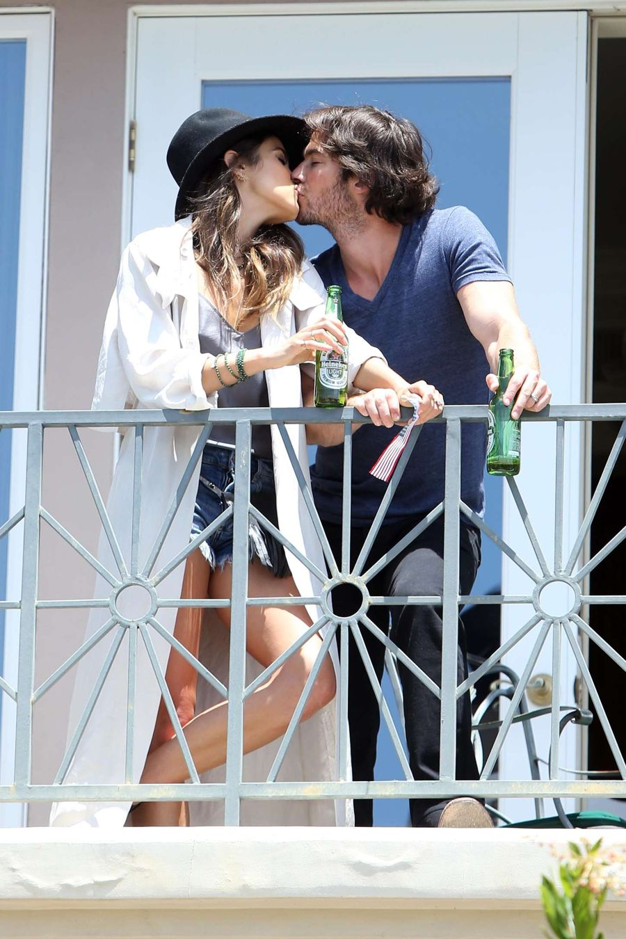 Nikki Reed and Ian share Passionate Kiss as they Party