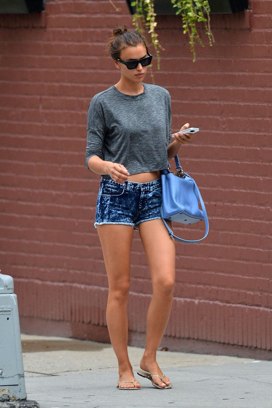 Irina Shayk out in the West Village in New York City