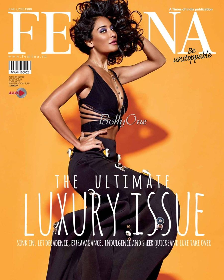 Lisa Haydon photoshoot for Femina India