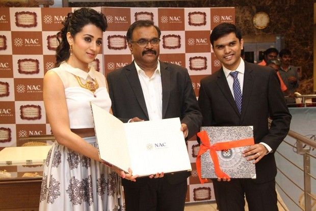 Trisha At New NAC Store Launch Photos
