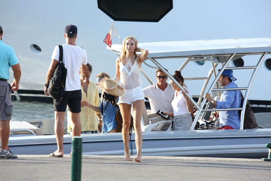 Kimberley Garner in White Shorts out in St. Tropez