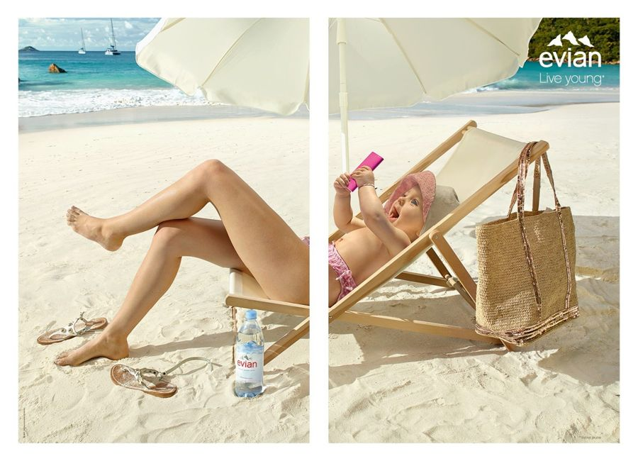 """Evian's New """"Live Young"""" Posters"""