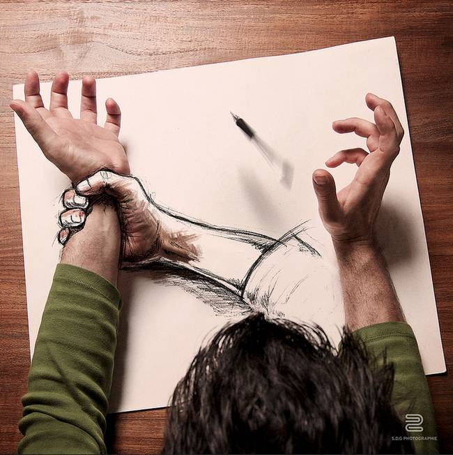 Artist Combines Drawing With Photography