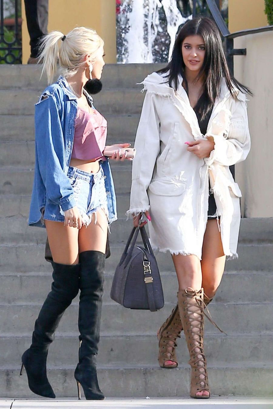 Kylie Jenner and Pia Mia Perez - Out in Calabasas