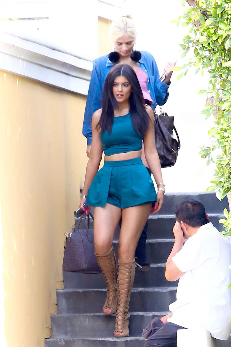 Kylie Jenner at The Commons in Calabasas