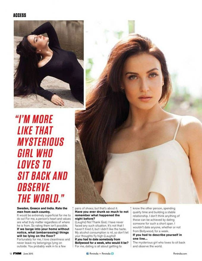 Elli Avram Photoshoot for FHM Magazine June 2015