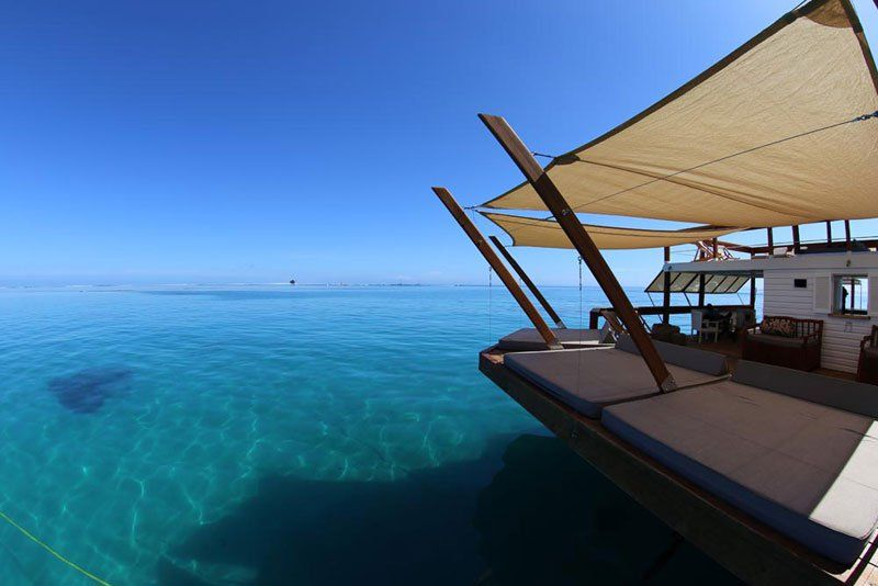 Floating Bar in Middle of the Ocean - Cloud 9 Fiji