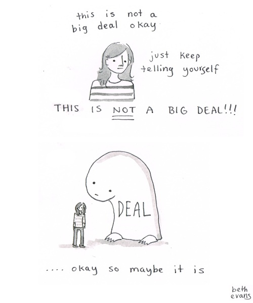 Funny Illustrations On Anxiety And Self-Doubt