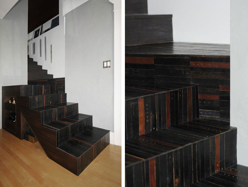 Unique Flooring Made from Old Leather Belts