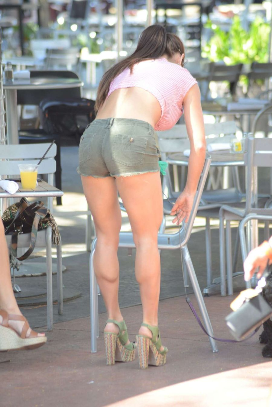 Michelle Lewin Hot in Shorts Out in Miami