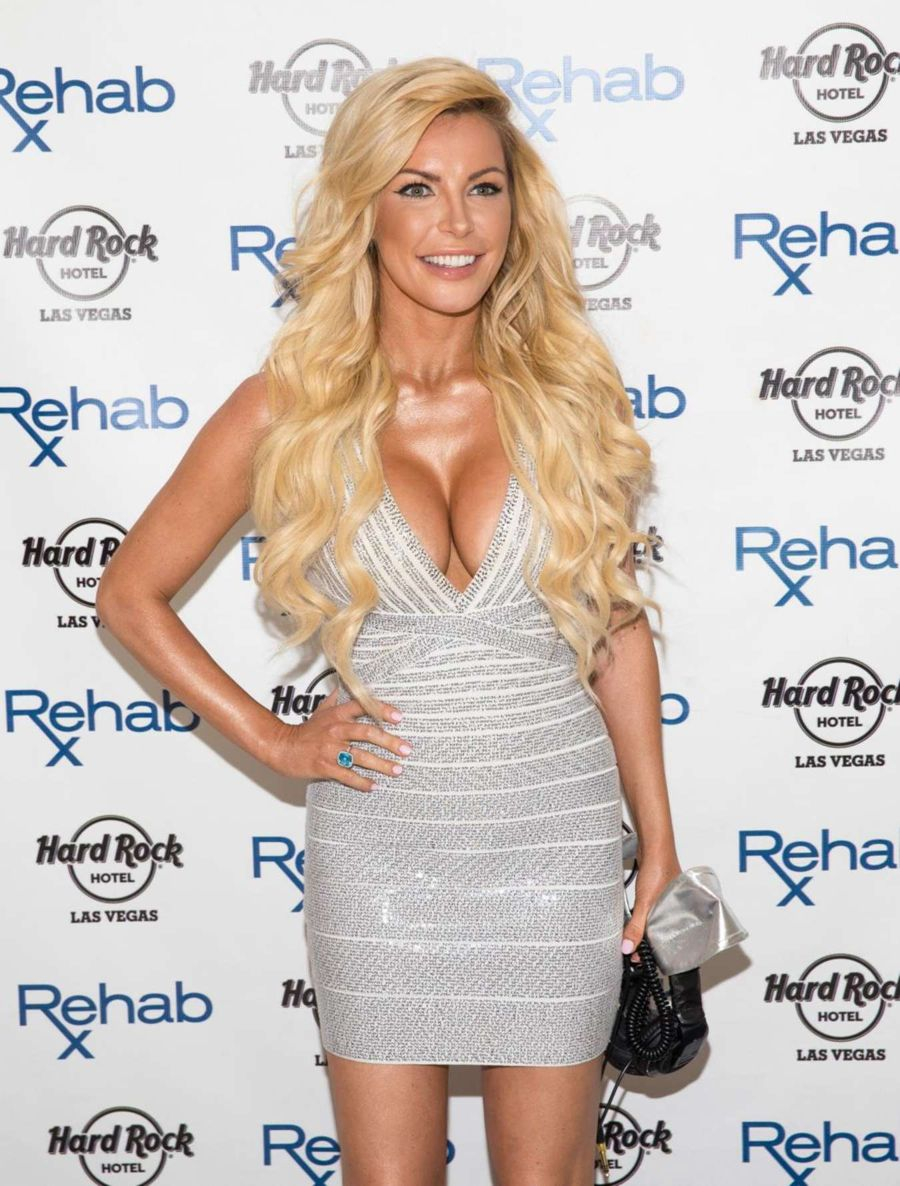 Crystal Hefner DJ's at REHAB Pool Party in Las Vegas