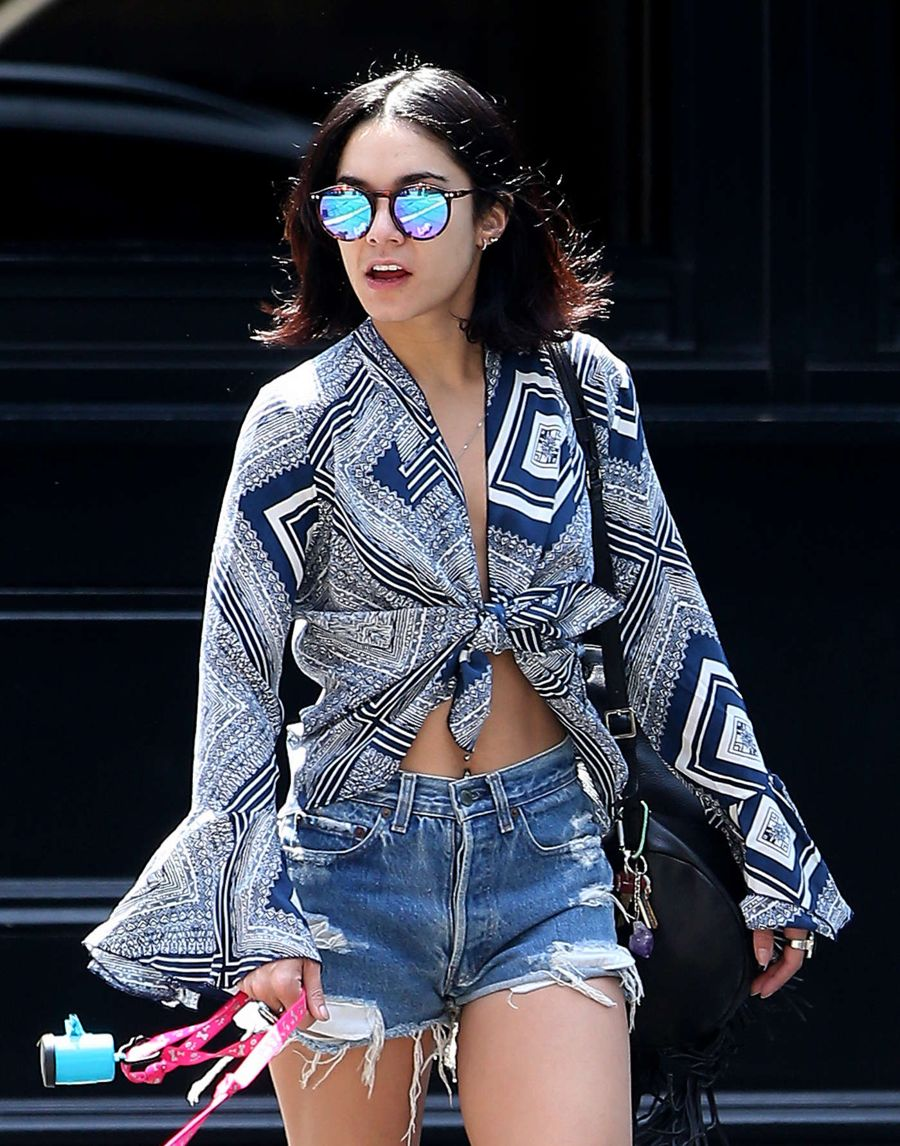 Vanessa Hudgens Walks her Dog Out in New York City
