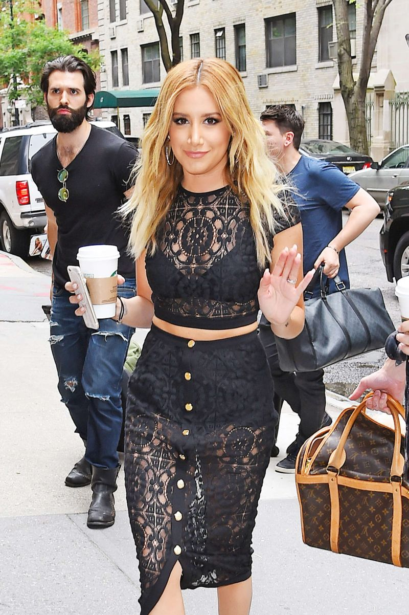 Ashley Tisdale - Arriving at 'The Chew' in NYC