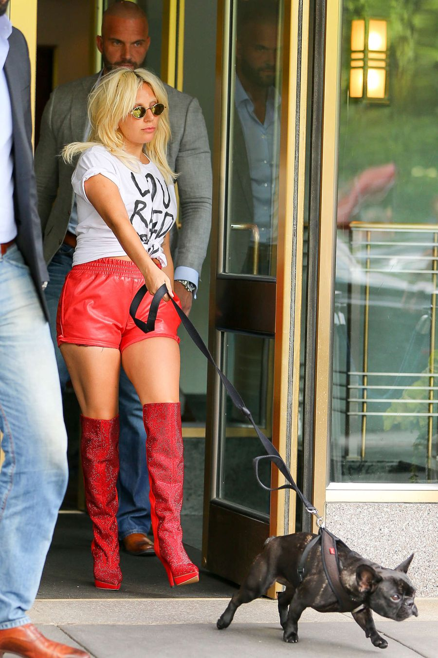 Lady Gaga in Red Shorts Out and about in NYC