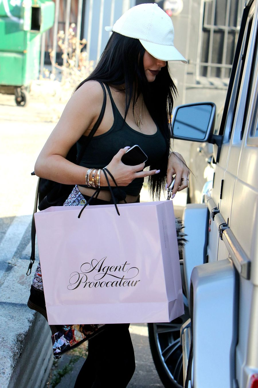 Kylie Jenner Jets Home from Miami for Father's Day