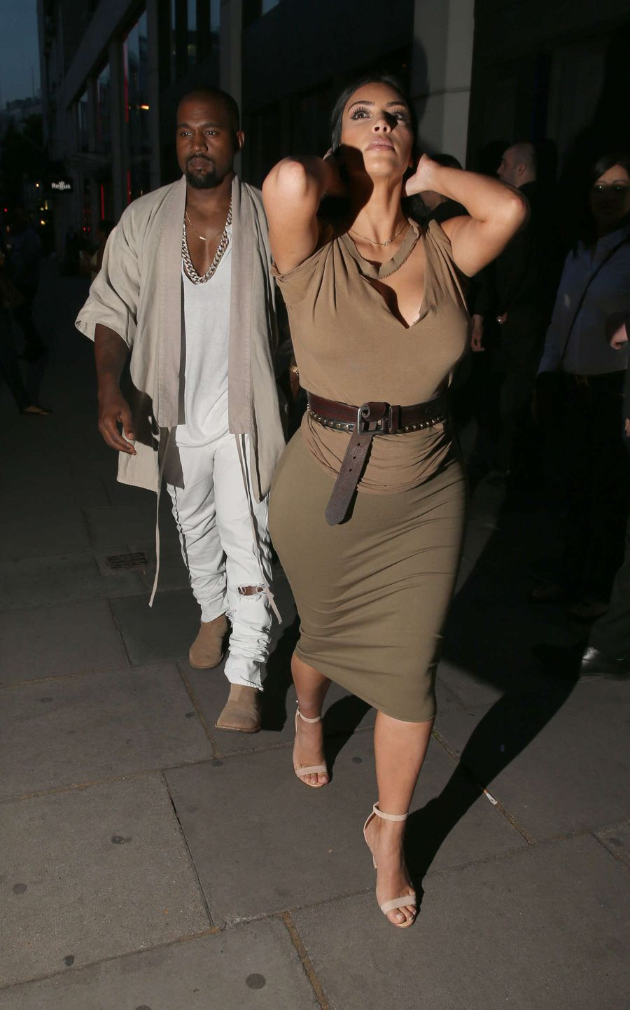 Kim Kardashian Date Night with Kanye West in London