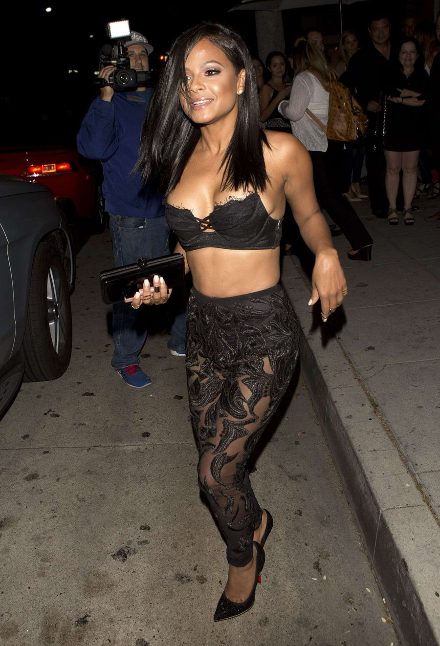 Christina Milian - Leaves Mr. Chow in California