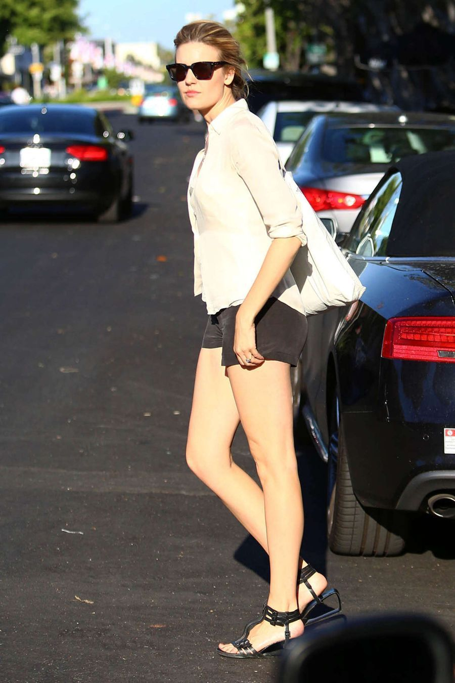 Maggie Grace out in West Hollywood
