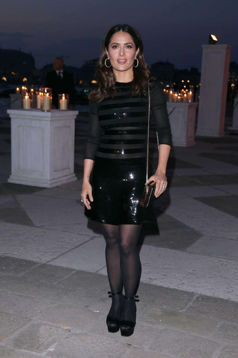 SALMA HAYEK at Pinault Party at 56th International Art Exhib