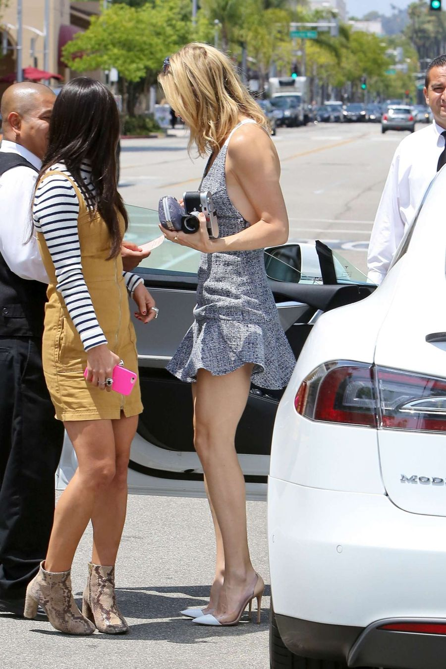 Kate Hudson in Mini Dress out in Beverly Hills