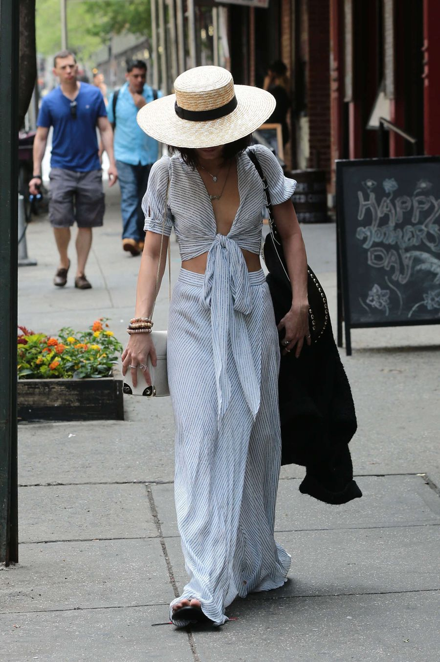 Vanessa Hudgens Leaving her apartment in Soho
