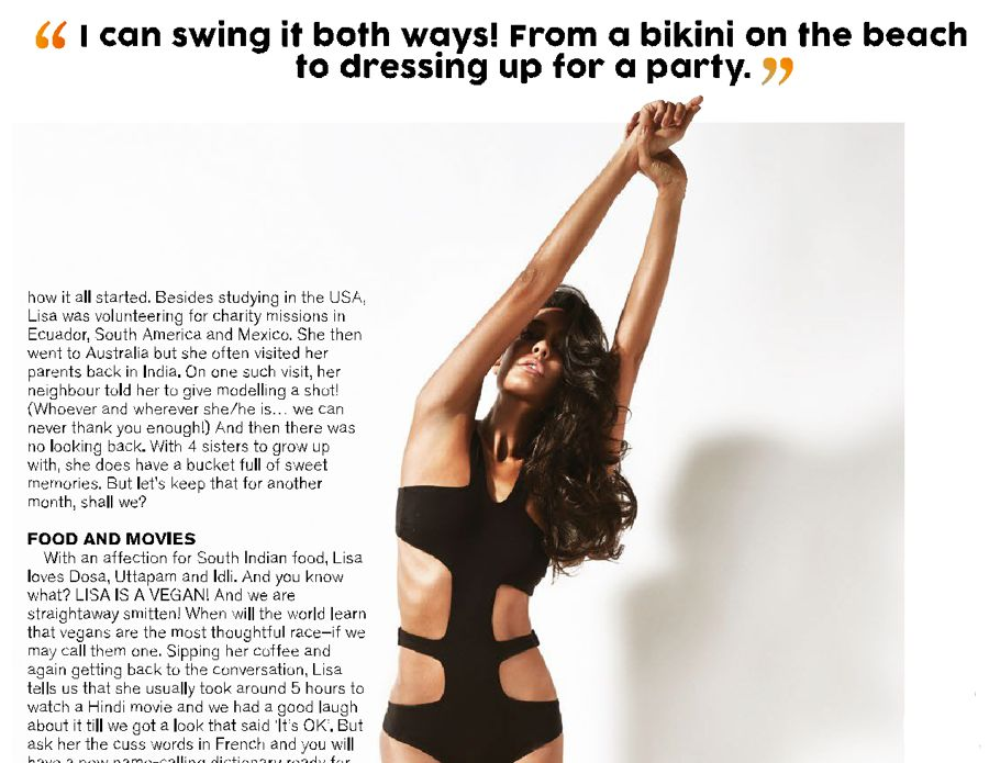 Lisa Haydon - FHM India Magazine (May 2015)