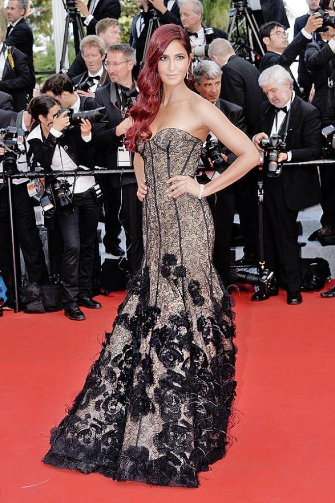 Katrina Kaif Poses on the Red Carpet at Cannes 2015