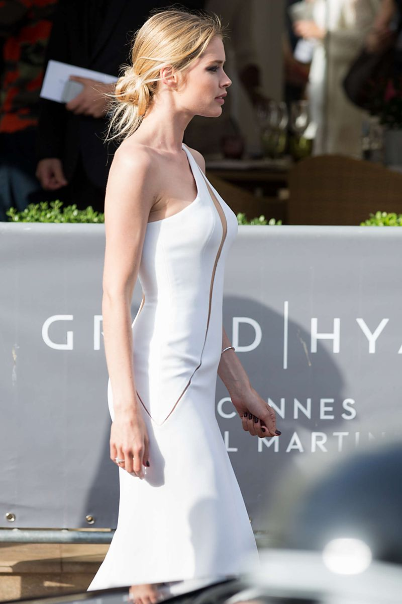 Doutzen Kroes stuns in white gown at Cannes Film Festival