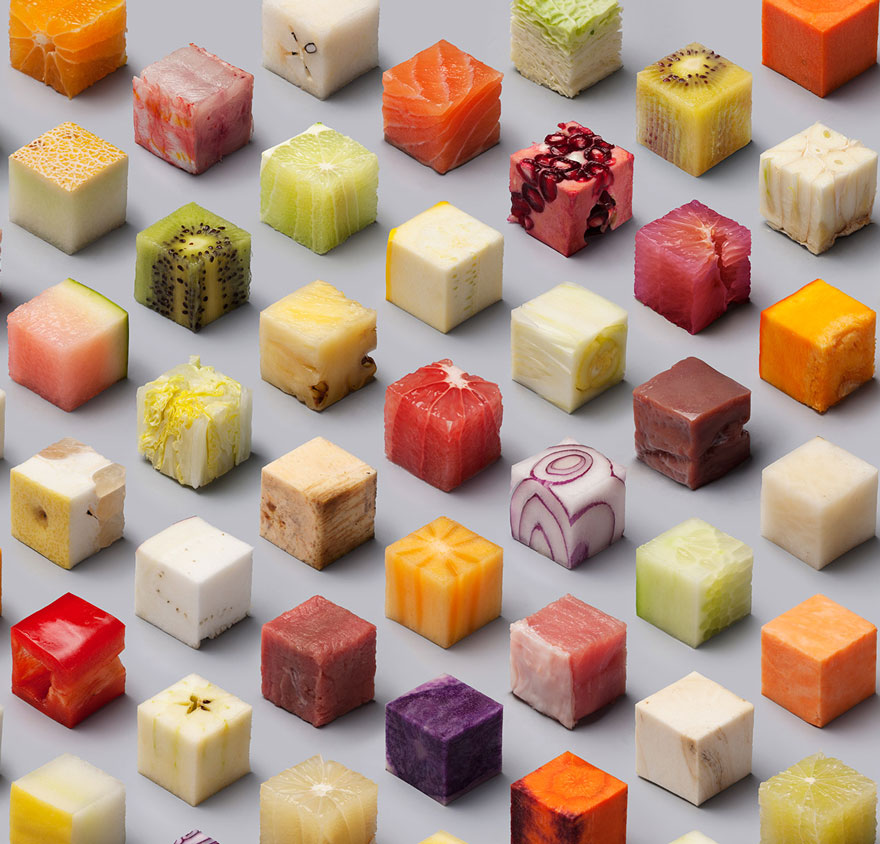 Viral Pics of Raw Food Cut Into 98 Perfect Cubes