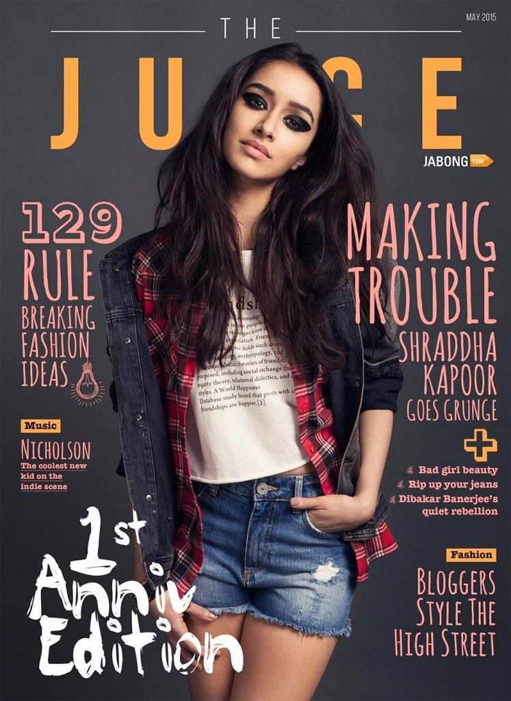 "Shraddha Kapoor Poses for Fashion Magazine ""The Juice"""