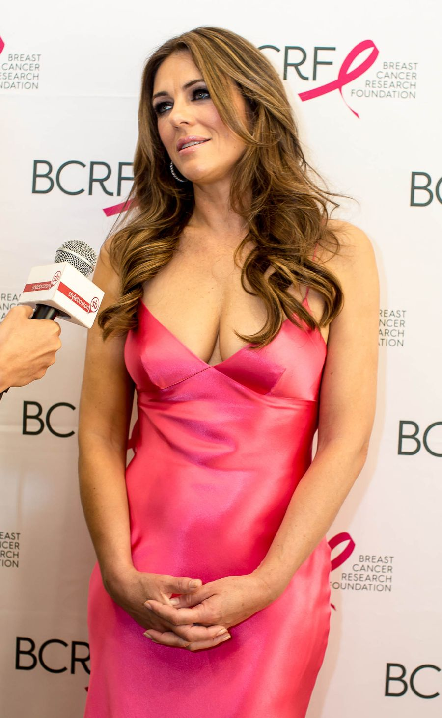 Elizabeth Hurley - 10th Anniversary Boston Pink Party