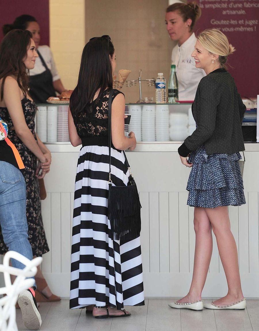 Jessica Lowndes  Seen in a restaurant in Cannes