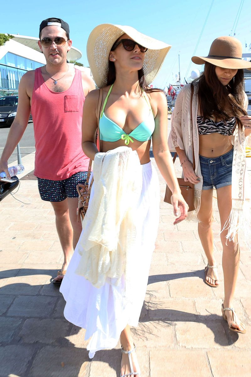 Jessica Lowndes in Bikini Top, out in Cannes