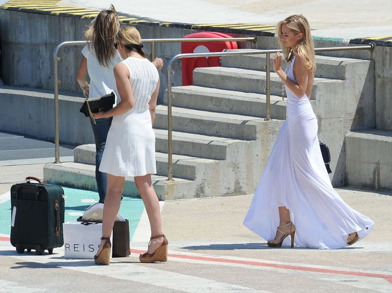 Kimberley Garner Arriving in Cannes, France