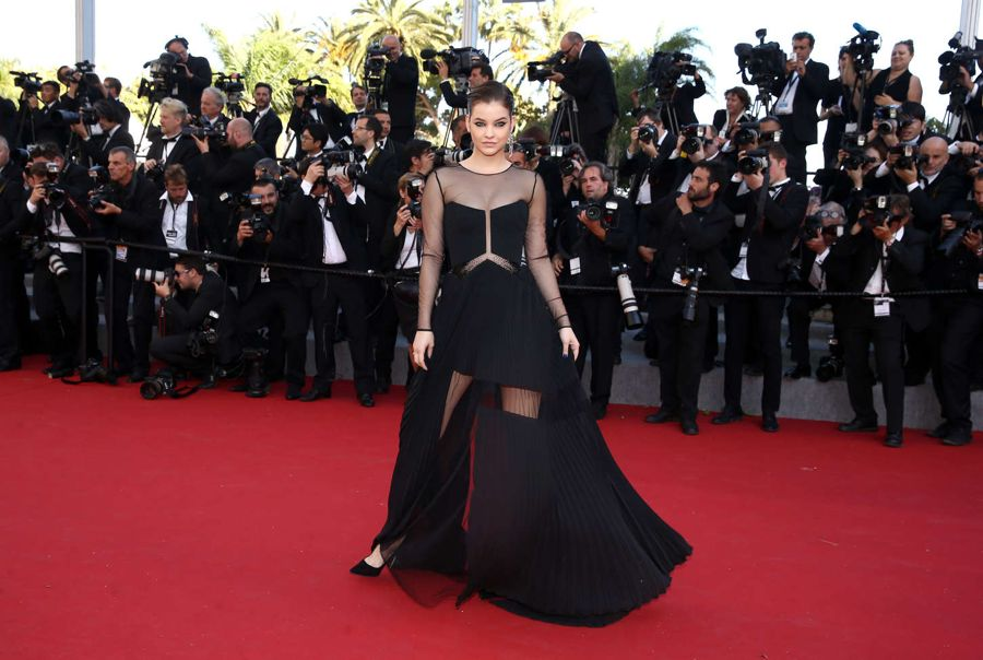 Barbara Palvin is smokin' in Leggy Dress in Cannes