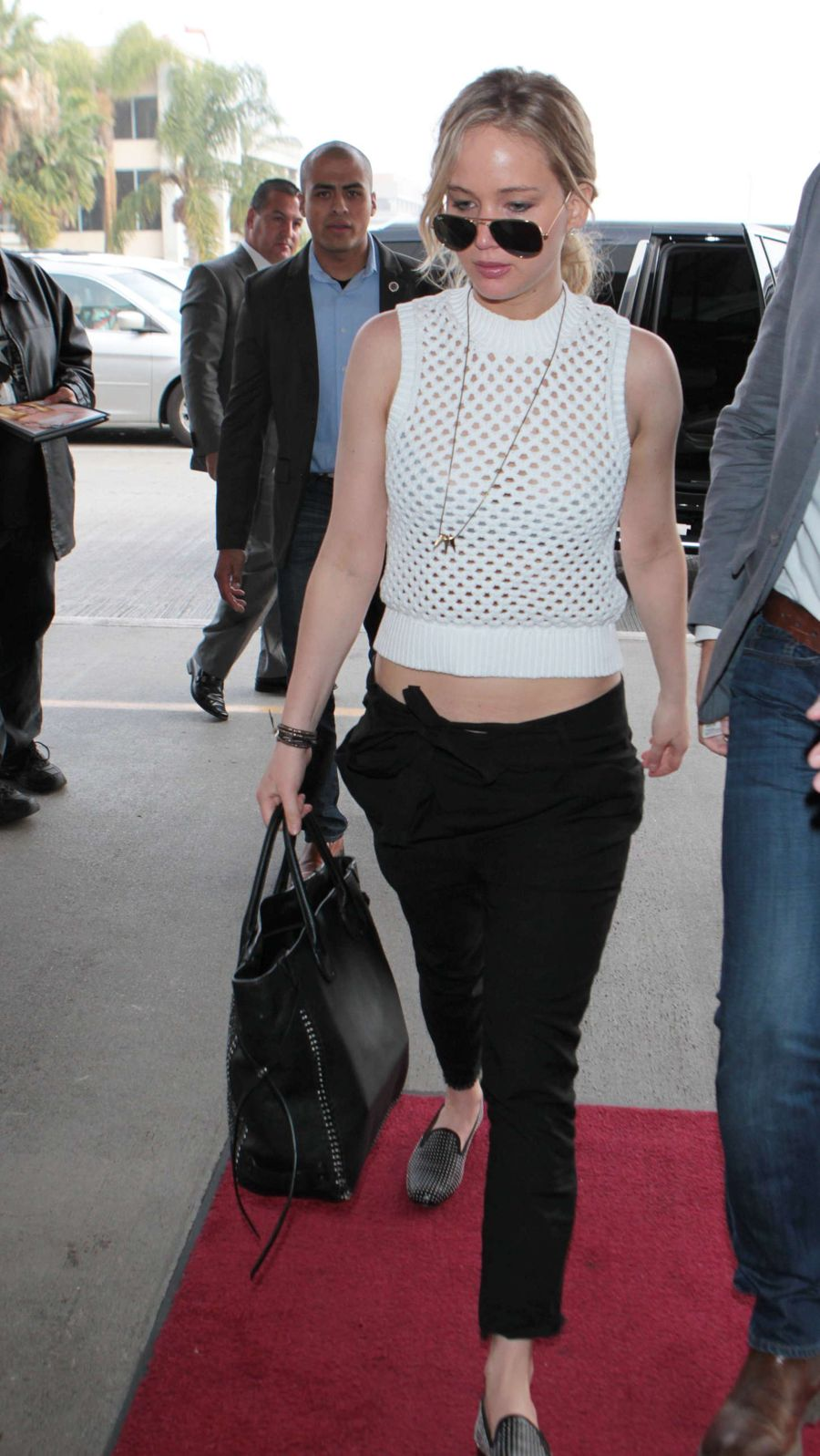 Jennifer Lawrence seen at LAX airport in LA