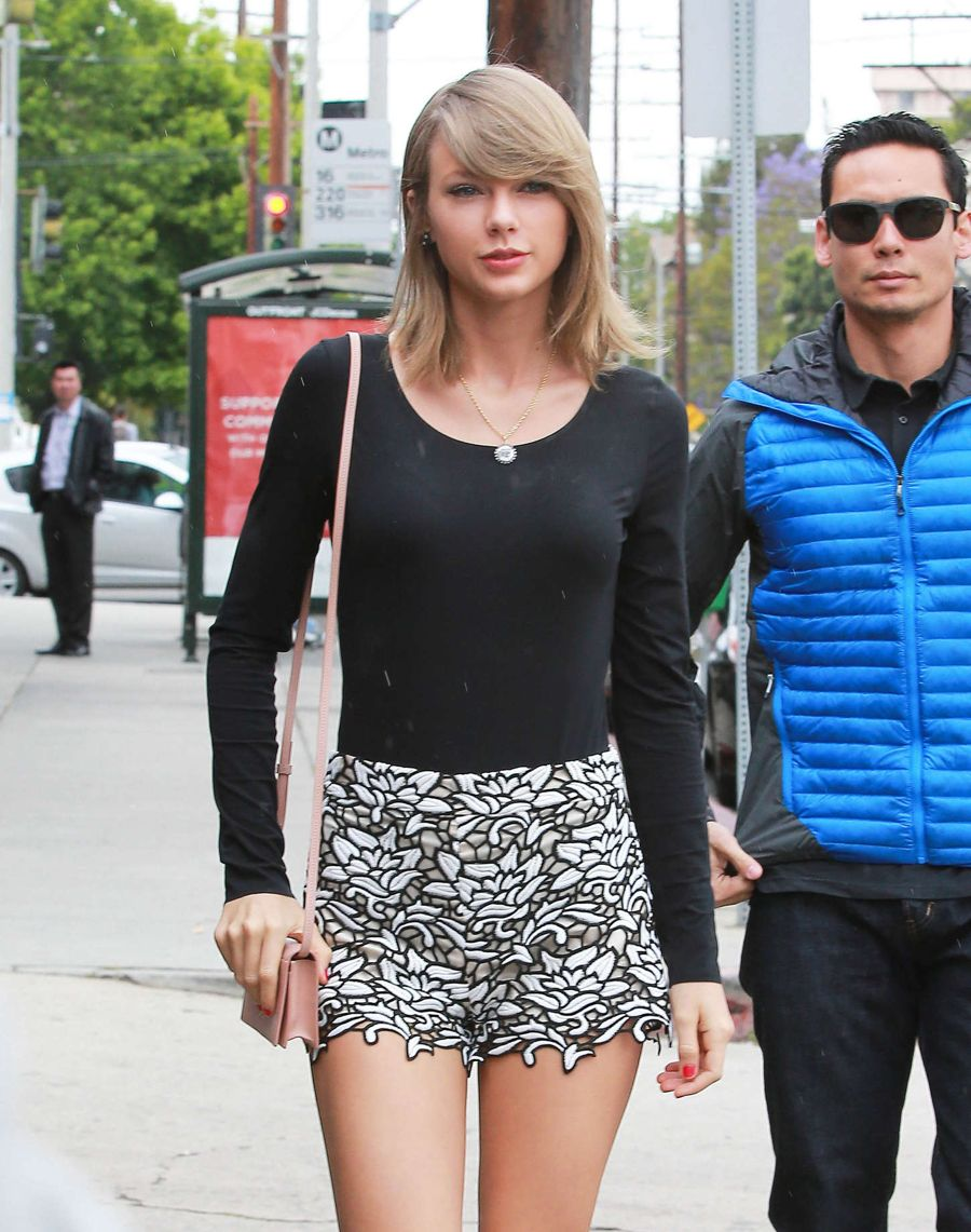 Taylor Swift Shows Off  Million Legs in Beverly Hills