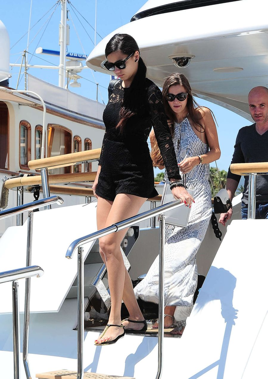 Adriana Lima Attends a Yacht Party in Cannes