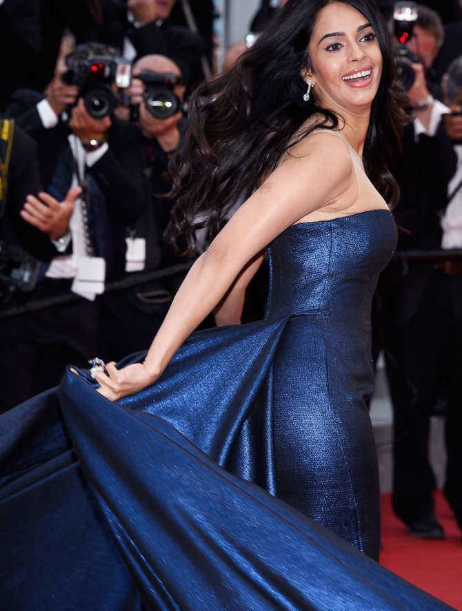 Mallika on the Cannes red carpet