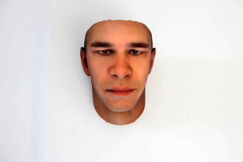3D Faces Printed from DNA in Discarded Objects