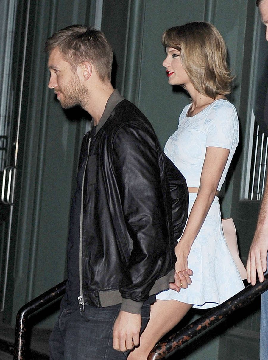 Taylor Swift in Mini Dress Night out in NYC