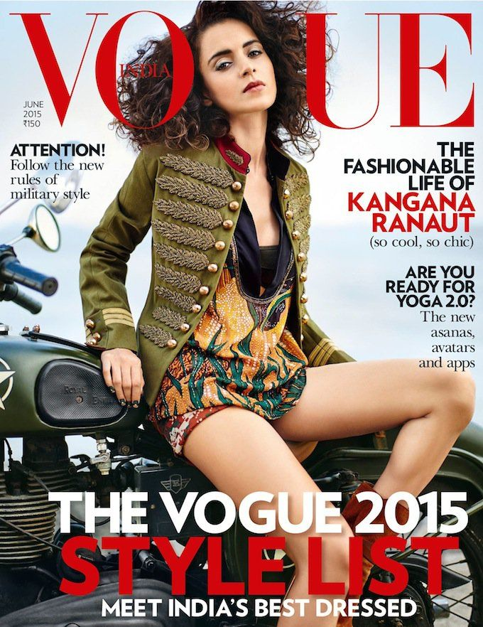 Queen Kangana Ranaut Vogue Magazine June 2015 PhotoShoot