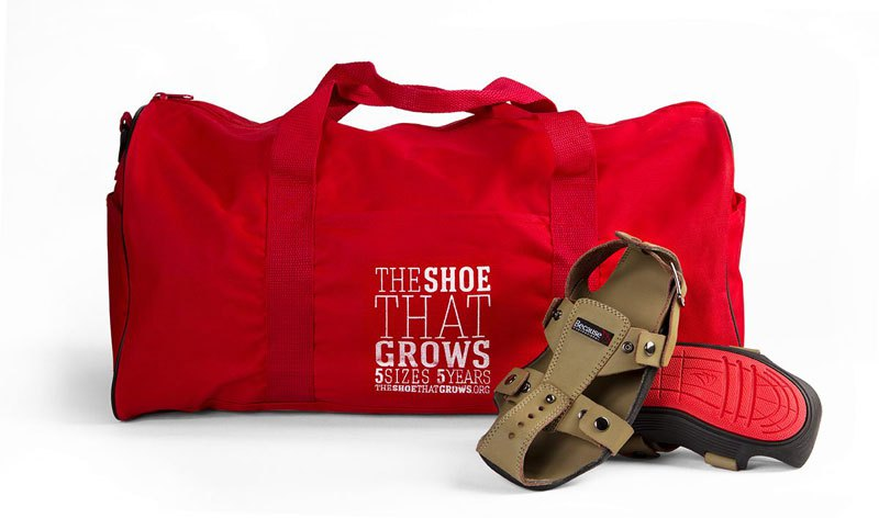 For Children in Need, this Shoe Grows as They Grow