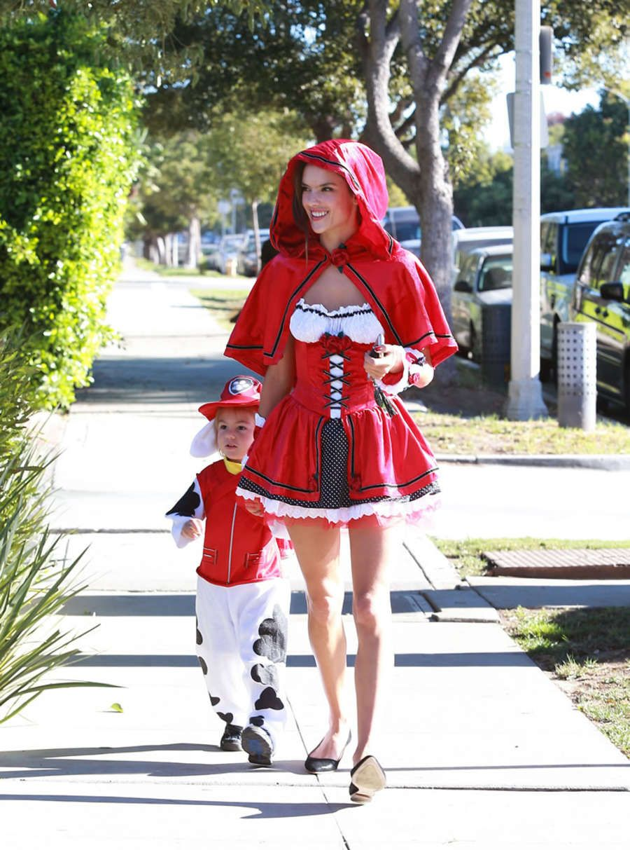 Alessandra Ambrosio - Red Riding Hood at Halloween