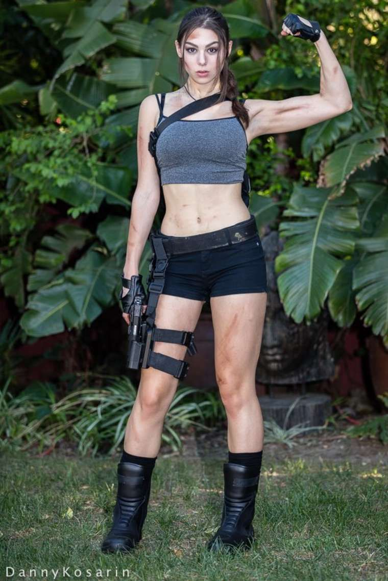 Kira Kosarin - Halloween Photoshoot As Lara Croft