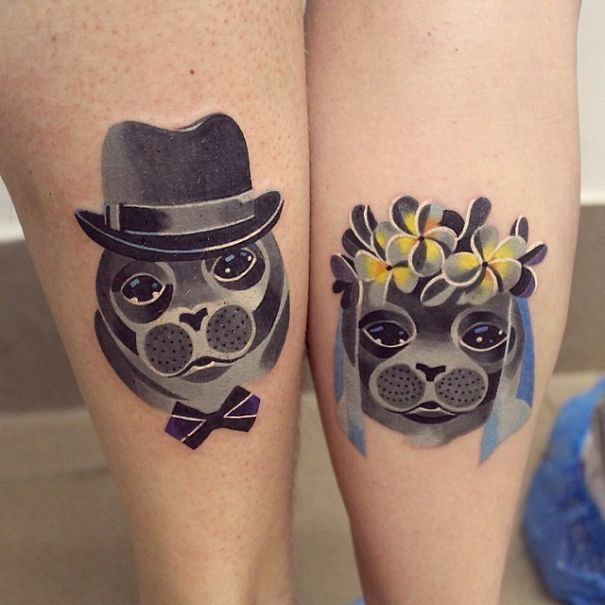 Brave Couples Who Chose Matching Wedding Tattoos