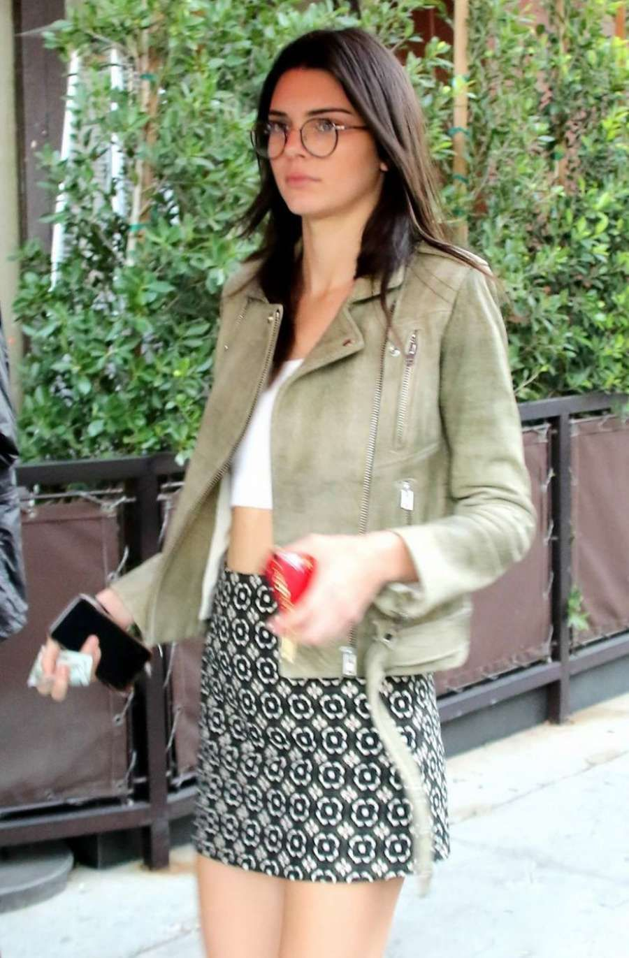 Kendall Jenner in Short Skirt out in Beverly Hills